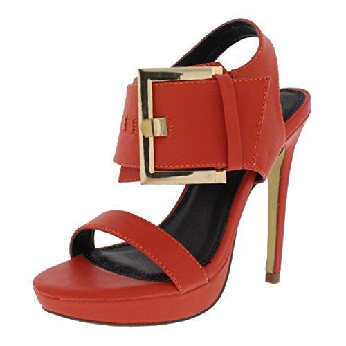 pen-toe Sandals Trista-16 (7, Orange) ()