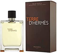TERRE D'HERMES by Hermes for Men EDT SPRAY 6.8 OZ mineral note, Grapefruit, bay rose, pepper, geranium, Atlas cedar, benzoin, patchouli, vetiver