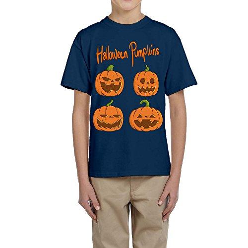 Zhen Kids Halloween Pumpkins O-Neck Tshirts S]()