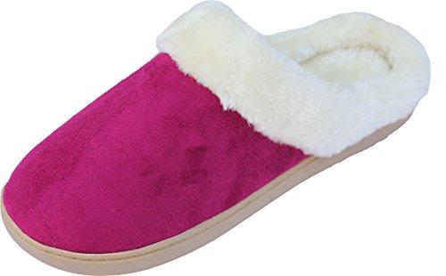 Laine et LUXEHOME 1 Pantoufles Chaud 08 Femmes Framboise Confortable Maison Chaussures qRBXx7w1