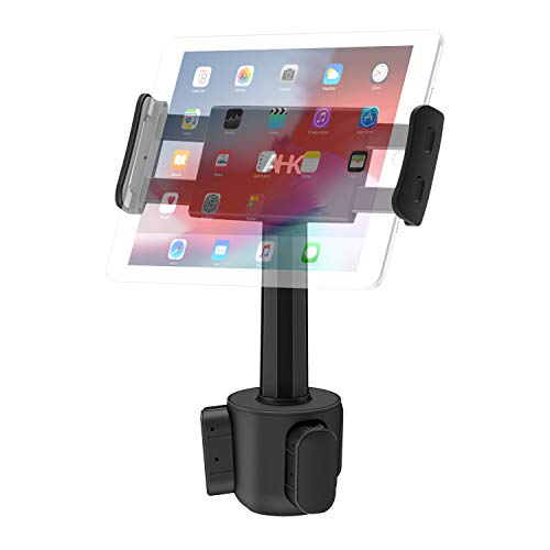 Car Cup Holder Tablet Mount, AHK Universal Tablet & Smartphone Car Cradle Holder for iPad Pro/Air/Mini, Kindle,Tablets Nintendo Switch Smartphones, Compatible with 4.4 to 11 Devices