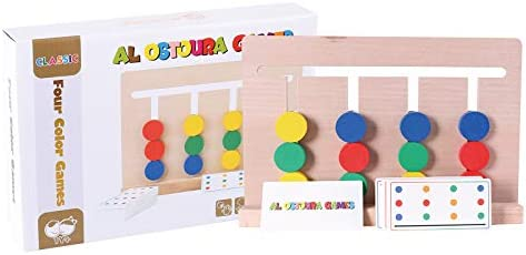 Al Ostoura Toys Four Color Games Educational Wooden Toy: Buy ...