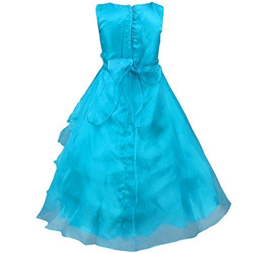iEFiEL Vestido Largo de Fiesta de Noche Ceremonia Disfraz de Princesa Bordado Flores para Niñas Varios Colores: Amazon.es: Ropa y accesorios