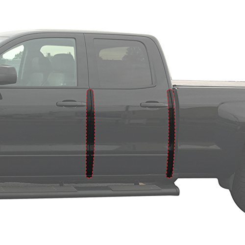 - Red Hound Auto Door Edge Lip Guards Compatible with 2014-2018 Chevy GMC Silverado Sierra Double Cab 4pc Door Lip Edge Clear Paint Protector Film Not Universal Pre-Cut Custom Fit