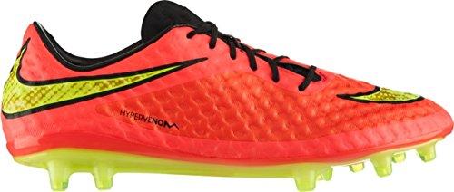 Nike - Zapatillas de fútbol Hypervenom Phantom FG , Hombre , Blanco (Black/Neo Lime-White) Red Yellow