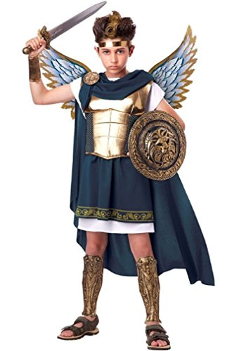 Fancy Biblical Archangel Gabriel Religious Warrior Child Costume (Judge Robes Costume)