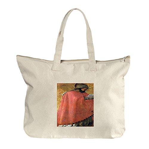 St Augustine (Masaccio) Canvas Beach Zipper Tote Bag - Augustine Shopping Center St