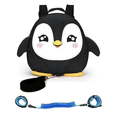 EPLAZA Toddler Walking Safety Bat Belt Harness Bag Backpack with Leash + 1 Anti Lost Wrist Link Strap