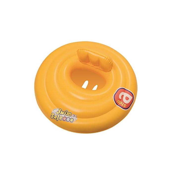 41nrAJdndaL Flotador rosco con asiento para bebe. Flotador para bebés. Asiento con estilo de pañal.