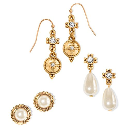 Cross Pearlesque 3 Piece Earrings Set -Avon (Earrings Dangling Avon)