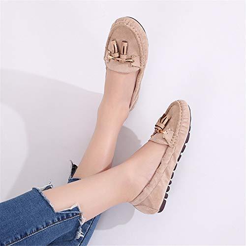 EU Moda Maternidad Planos Zapatos Zapatos Casual de Plegables 35 FLYRCX 35 de Suave Trabajo de Zapatos y cómoda señoras Ballet Borla UE Zapatos SBwd8Zq