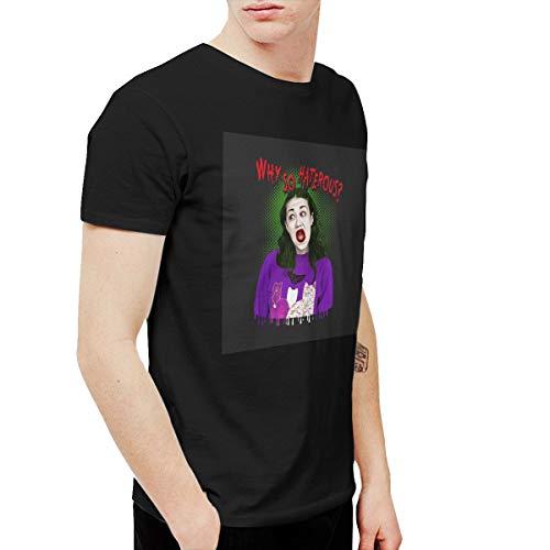 Kangtians RHZTPYRDE Miranda Sings Halloween Makeup Men's and Women's Short Sleeve Fancy Funny T-Shirts Black XXL -