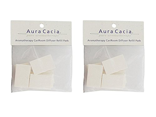 2 Pack of 10 Aura Cacia Diffuser Refill Pads Bundled by Mave