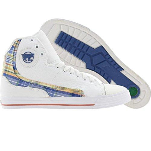 PF Flyers Men's Glide Sneaker,White/Green,5 M US (Flyers Glide Pf)