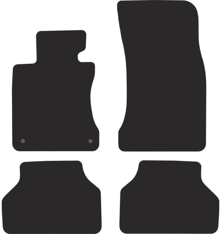 E61 2003-2010 Ciberfix Kit de Alfombrillas de Velour Premium Compatible con BMW Serie 5 E60