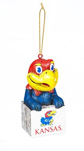 Team Sports America Kansas Jayhawks Team Mascot Ornament