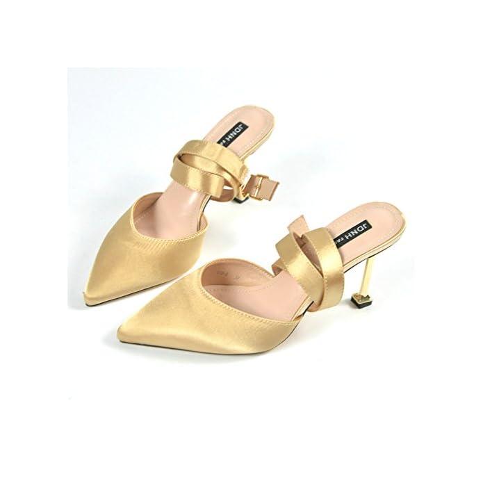 Ajunr Sandali Da Donna Alla Moda Sexy Seta Satin Attraversare Le Cinghie Con Belle Scarpe Pantofole Un Nuovo Gatto 5 8cm
