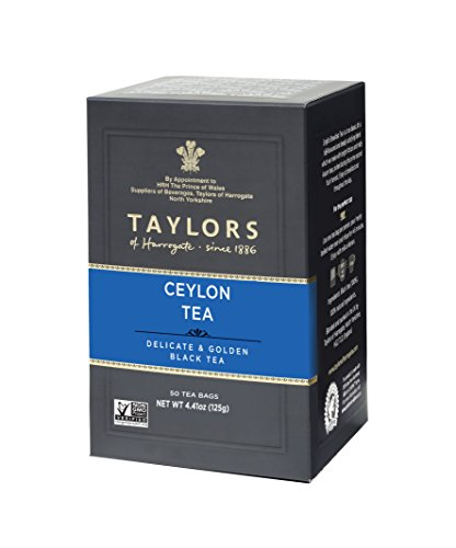 Taylors of Harrogate Pure Ceylon, 50 Teabags (Teas Ceylon Blended Tea)