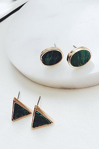 - Generic ss retro style turquoise earrings emerald n