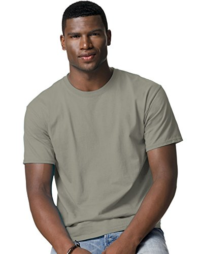 100% Comfortsoft Cotton (Hanes TAGLESS® T-Shirt,Stonewash Green,3X-Large)