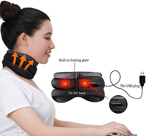 CXQZLH USB Heizung Cervical Neck Traction Soft Brace Gerät Unterstützung Cervical Traction Rücken Schulter Schmerzlinderung Massagegerät Entspannung Gesundheitswesen