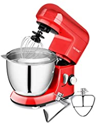 CHEFTRONIC Stand Mixer SM-985, 350W 6 Speeds Tilt-head Compact Kitchen Electric Mixer 4.2 Quart Stainless Steel Bowl with Pouring Shield for Mother's Day, Xmas, Wedding, Thanksgiving, Birthday Gift