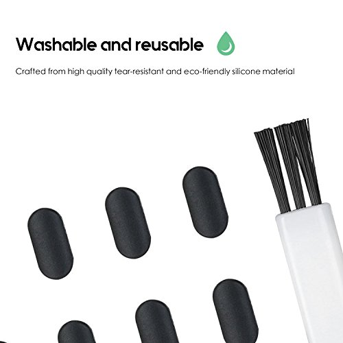 Flavor In 10pcs Silicone Anti Dust Cap Earphone Jack Plug Stopper Charge Port Plug Stopper For Iphone 5 5s 6 6s Silicone Plug Black White Fragrant