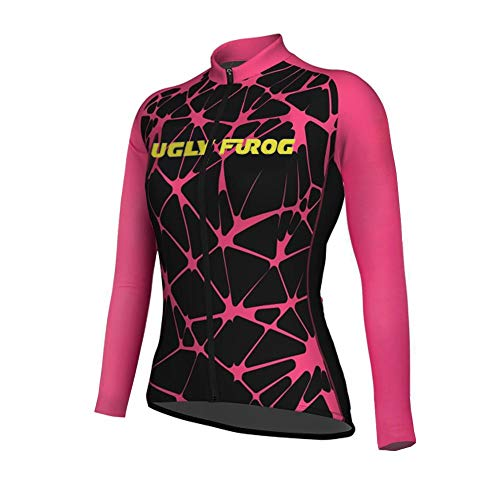 (Uglyfrog Bike Wear Pro Team Newest Designs MTB Women Summer Long Sleeve Autumn Bike Cycling Jersey Clothes Bicycle Triathlon Shirt Wear Clothing)