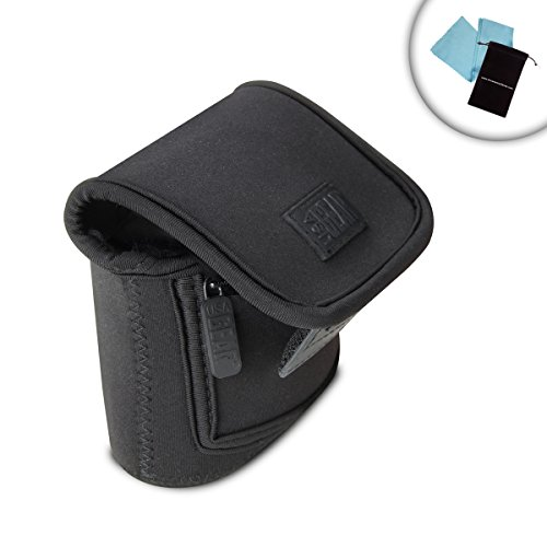 USA GEAR Compact Digital Camera Sleeve for Panasonic Lumix DMC-TS6 , ZS100 , ZS60 & More - Belt Loop , Zippered Accessory Storage , & Weather Resistant Exterior