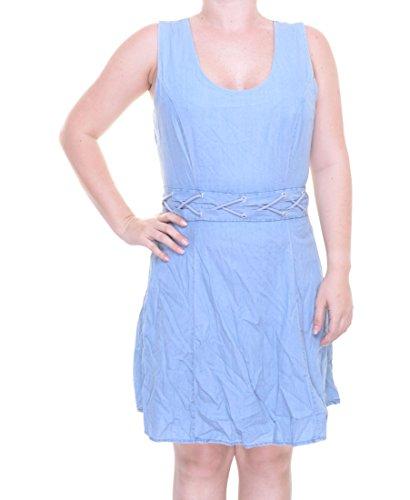 American Rag Juniors' Sleeveless Braided-Waist Fit & Flare Denim Dress (0, Faylinn (American Rag Sleeveless)