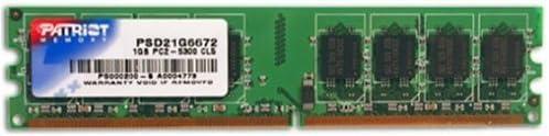 Patriot 512 MEG PC2-5300 667MHZ DDR2 SO-DIMM 1 RANK//64X8