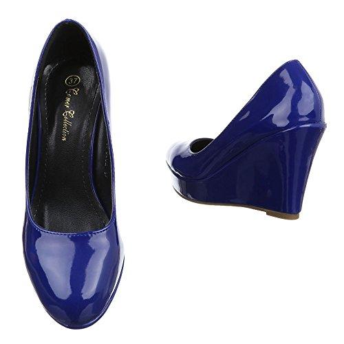 Plataforma PA15715 Mujer Ital Design Blau 86577q