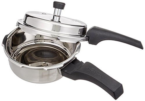 Prestige Deluxe Alpha Outer Lid Stainless Steel Pressure Cooker, 2 Litres, Silver