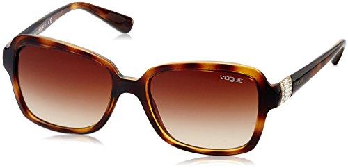 VOGUE Women's Injected Woman 0vo2942sb Rectangular Sunglasses, Dark Havana, 55 - Sunglasses Prescription Vogue