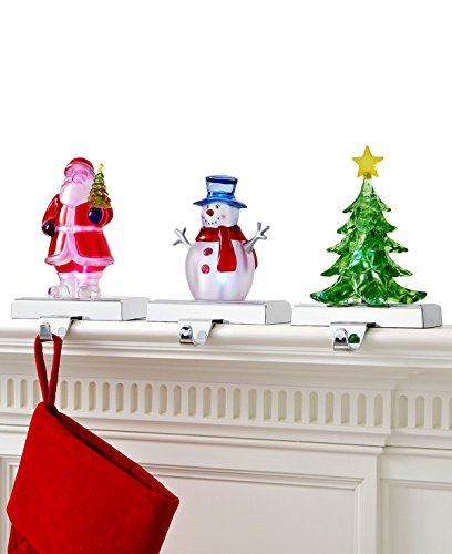 Holiday Stocking Holder (Holiday Lane Christmas Light Up Acrylic Stocking Holder (TREE))