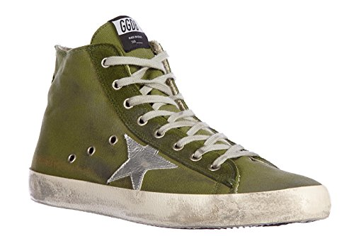 Golden Goose baskets hautes homme in coton nuove francy vintage vert