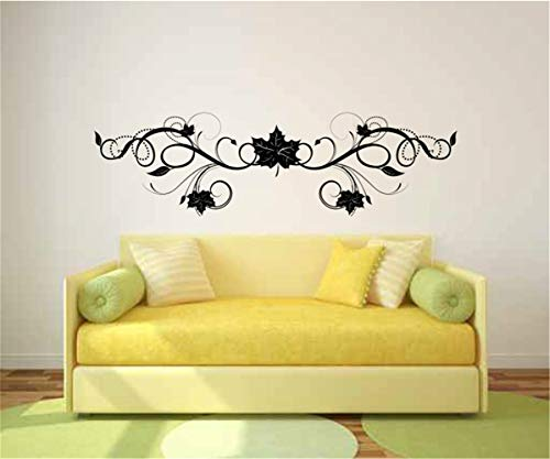 - Vinyl Removable Wall Stickers Mural Decal Floral Leaf Scroll for Living Room Bedroom