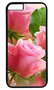 3 Light pink roses Masterpiece Limited Design PC Black Case for iphone 6 by Cases & Mousepads