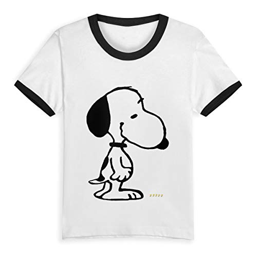 HWSXEDC Happy Summer Time Charlie-Brown-Halloween-Clipart-8 Children's Short Pure Cotton Sleeve T-Shirt Baseball