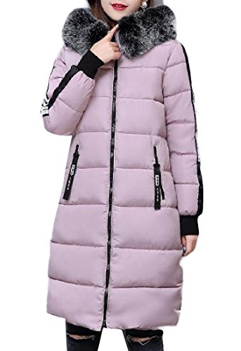 Addensante Colore Imbottitura Lungo Rosa Warm Un Womens Keeping Againg Cotone In Con Per qPatn