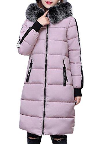 Lungo Womens Per Rosa Con In Cotone Warm Imbottitura Againg Keeping Colore Un Addensante pvw6nBxqgq