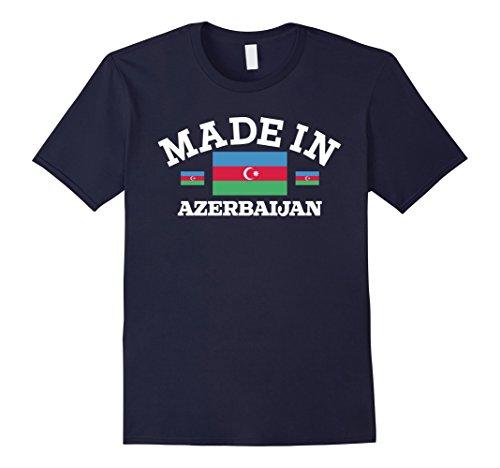 Men's Made In Azerbaijan Flag T-Shirt Large Navy