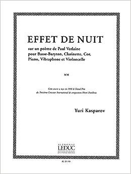 Amazoncom Effet De Nuit Sur Un Poeme De Paul Verlaine