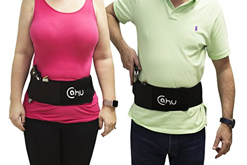 CAHU CH Belly Band Holster for Concealed Carry with Neoprene Band Black for Men and Women.