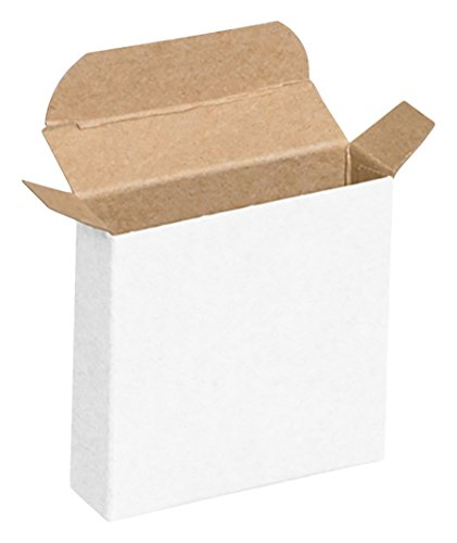"""RetailSource RTC39Wx50 4 1/4"""" x 4 1/4"""" White Reverse Tuck Folding Cartons (Pack of 50)"""