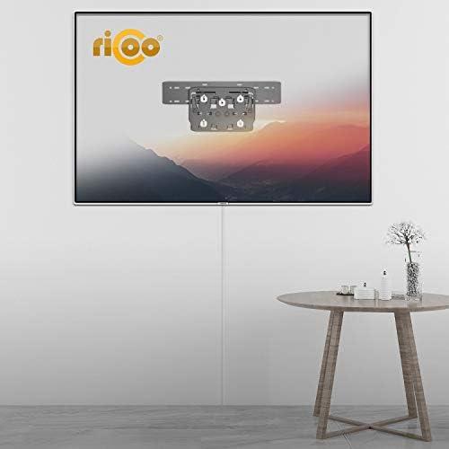 RICOO SQ75, Soporte TV Pared, No-Gap, Fijo, Inclinable, Compatible con Samsung Q7, Q8, Q9 QLED, Television de 75