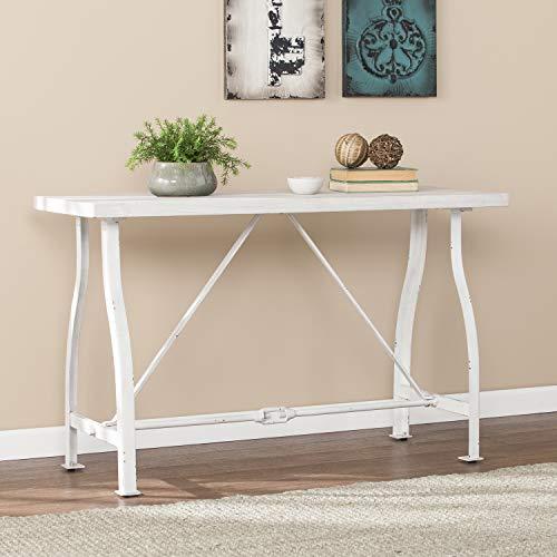 (Southern Enterprises AMZ4501MC Jacinto Farmhouse Style Console Table, White)
