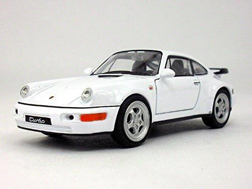 4.5 inch Porsche 911 / 964 Turbo Scale Diecast Model by Welly - White - Porsche 911 Turbo Gt3