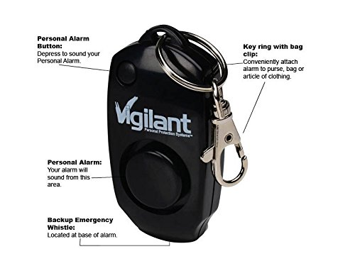 Vigilant Personal Alarm - Backup Whistle - Button Activated