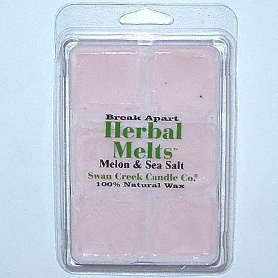 Swan Creek Candle Soy Drizzle Melt 4.75 Oz. - Melon & Sea Salt - Swan Salt